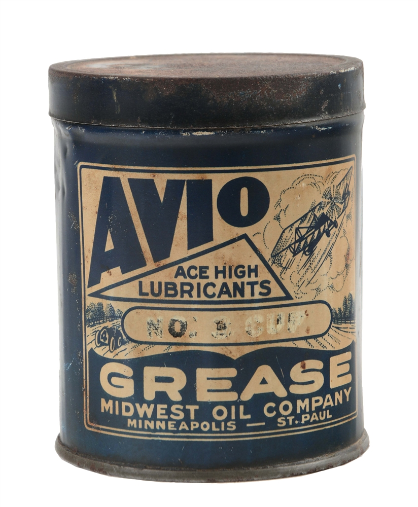 Avio & Ace High One Pound Grease Can.