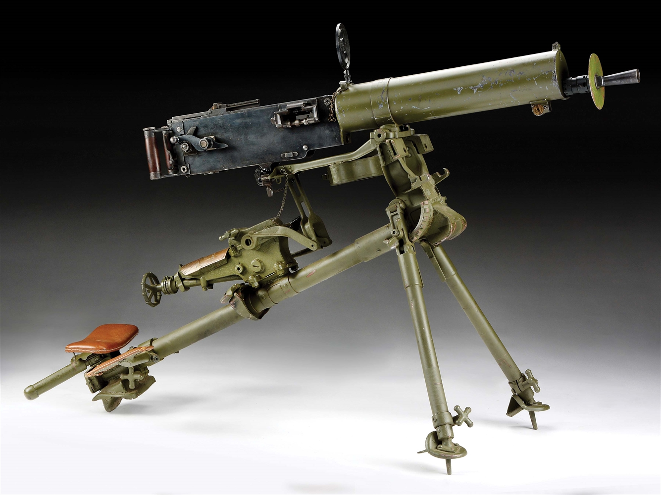 (N) Extremely Rare Chinese Model T-24 Maxim Machine gun (Curio & Relic).