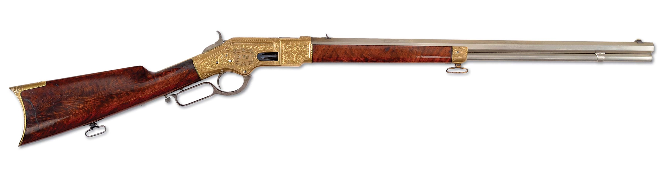 (A) WONDERFUL THOMAS OCONNEL FACTORY ENGRAVED 1866 WINCHESTER RIFLE