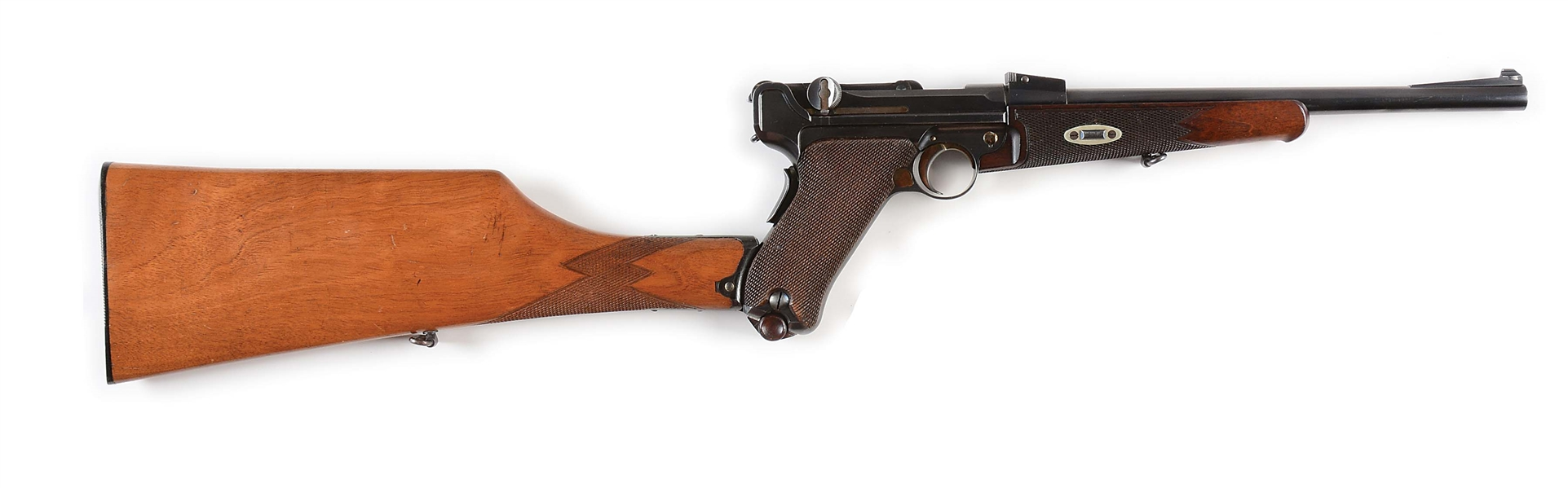 (C) 1902 LUGER CARBINE WITH STOCK.