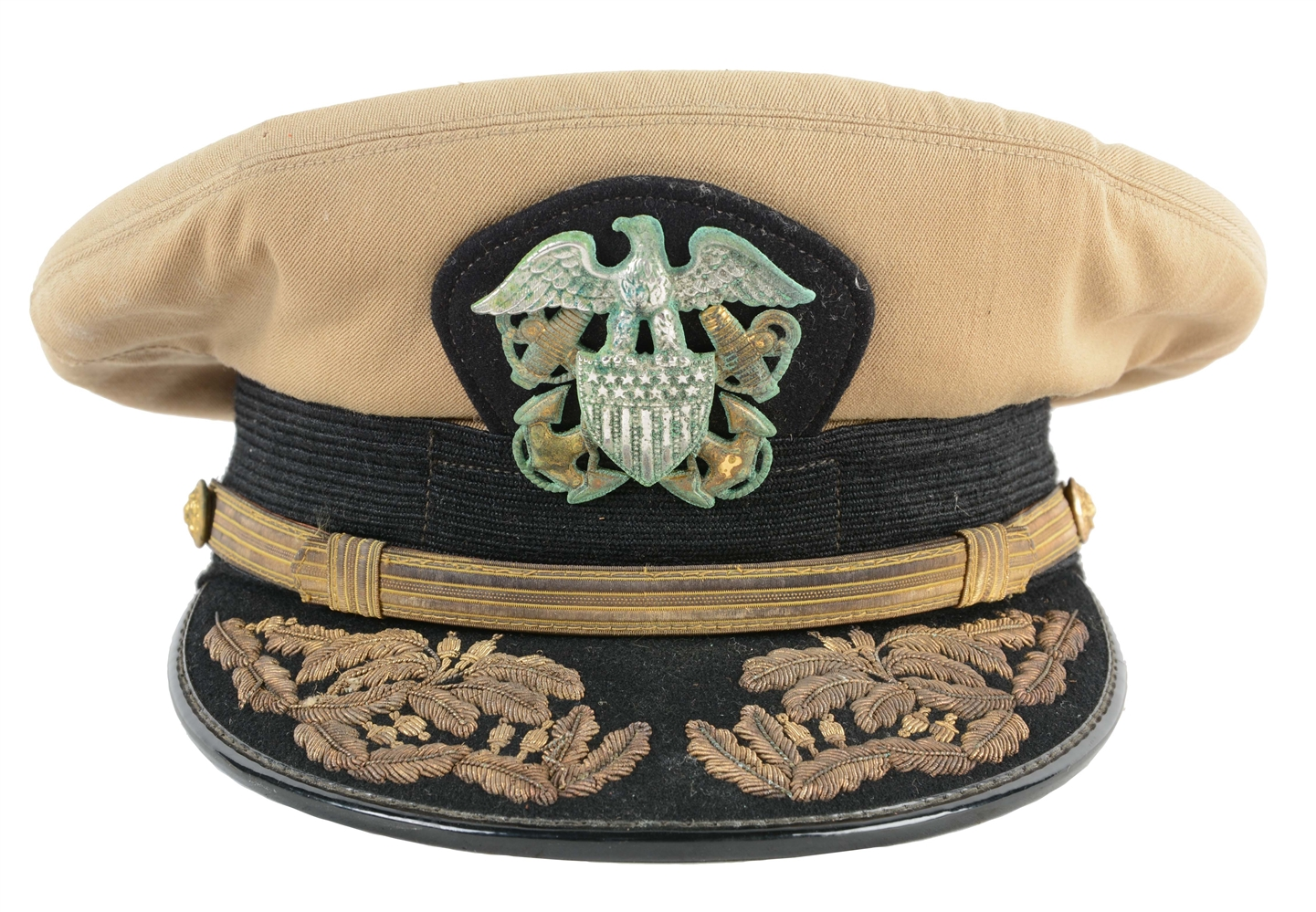 "A Navy Cap Worn By John Wayne In The Film ""In Harms Way."""