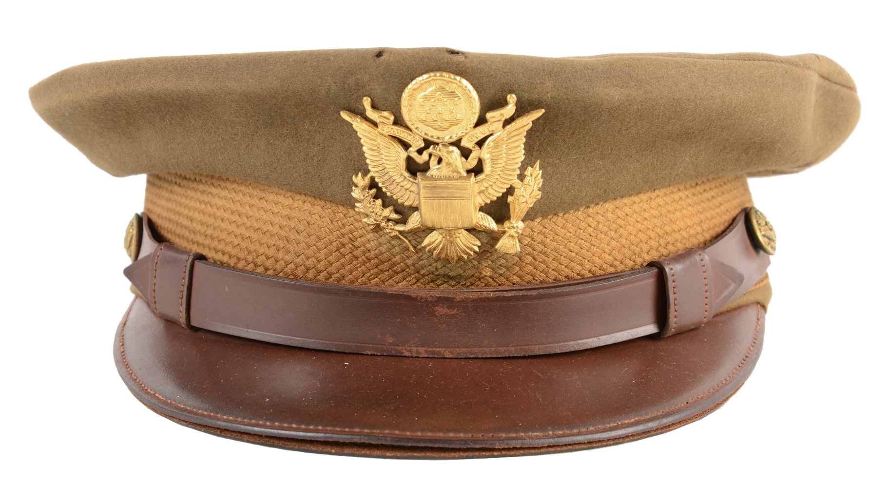 WWII U.S. Army Officers Visor Cap Worn By General George Kenney.