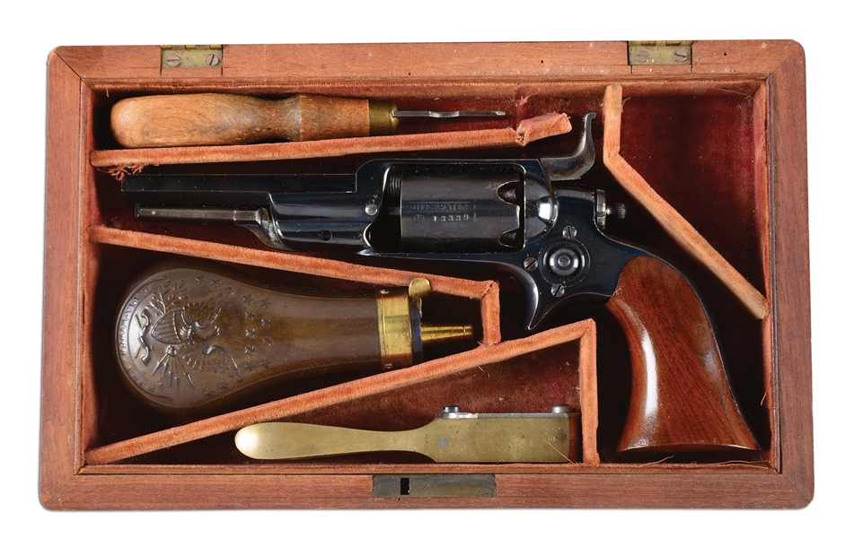 (A) CASED HIGH CONDITION COLT MODEL 1855 ROOT PERCUSSION REVOLVER.