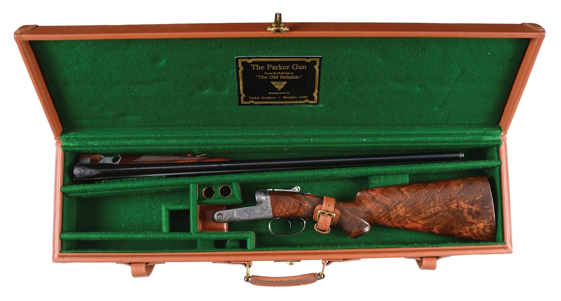 (C) PARKER BROS A-1 SPECIAL UPGRADE 20 GAUGE SHOTGUN WITH CLASSIC FLORAL ENGRAVING BY ANGELO BEE IN CASE