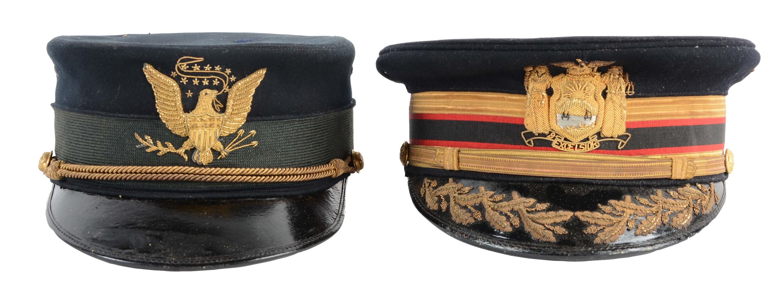 Lot of 2: U.S. Model 1895 Officers & Model 1902 Officers Full Dress Caps.