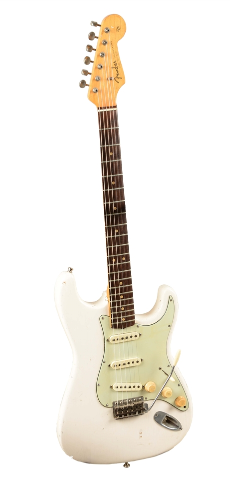 Fender Stratocaster Olympic White Electric Guitar.