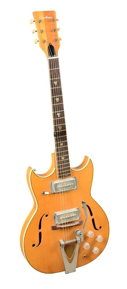 Airline Flattop Hollow Body Electric Guitar.