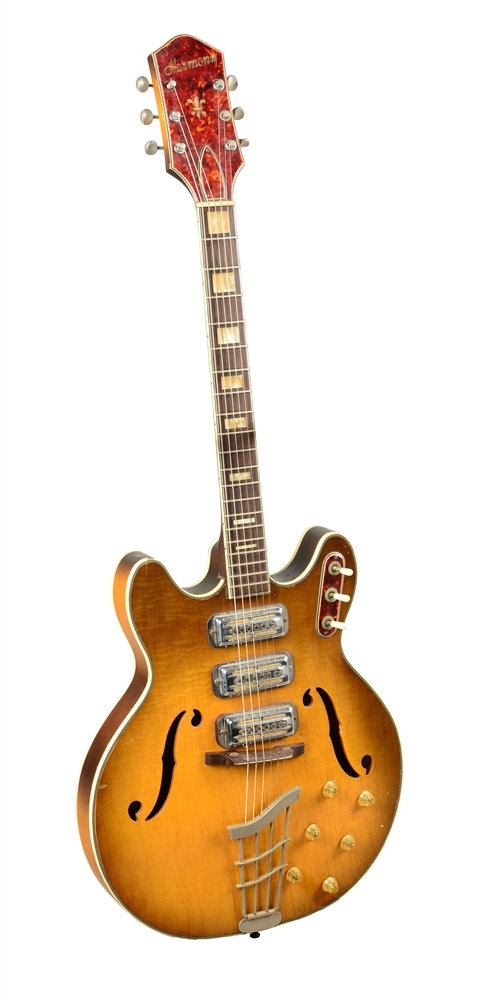 Harmony H75 Hollow-Body Electric Guitar.