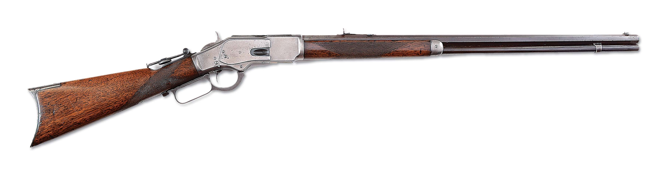 "(A) WINCHESTER MODEL 1873 ENGRAVED ""ONE OF ONE THOUSAND"" LEVER ACTION RIFLE"