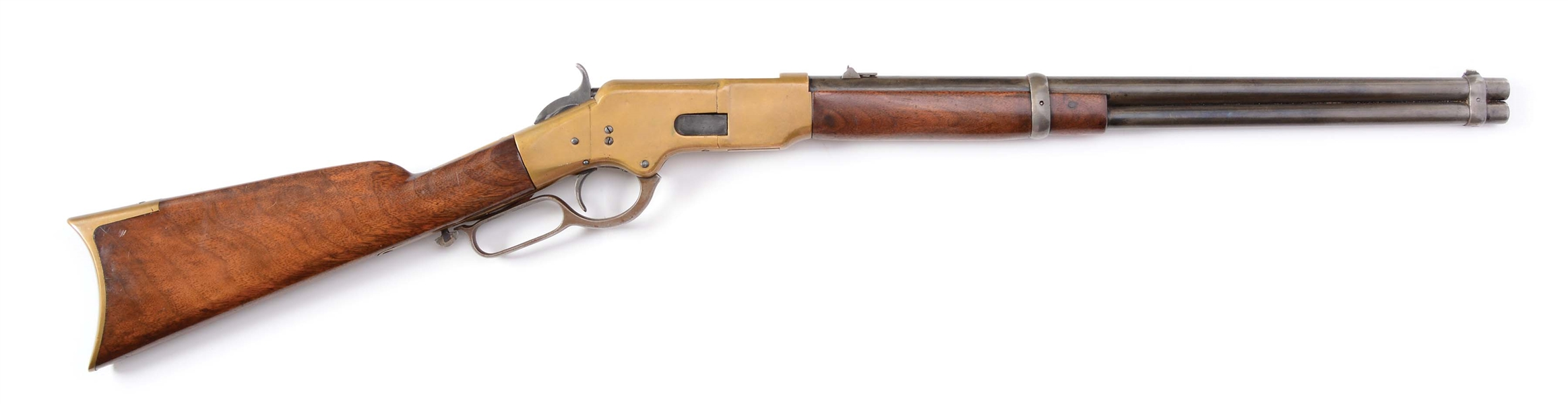 (A) RARE 1ST MODEL FLATSIDE 1866 SADDLE RING CARBINE (1866).