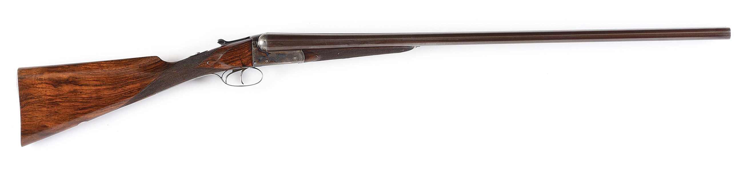 "(A) RARE JAMES PURDEY & SONS ""GRADE C"" BOXLOCK GAME SHOTGUN INCORPORATING W. ANSON PATENT EJECTOR OF 1884/6 IN  CASE."