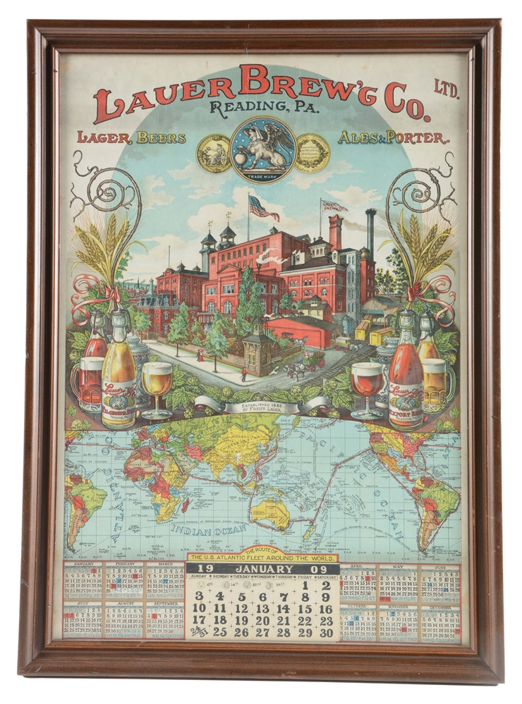 Lauer Brewing Co. Reading, Pa. Advertising Calendar.