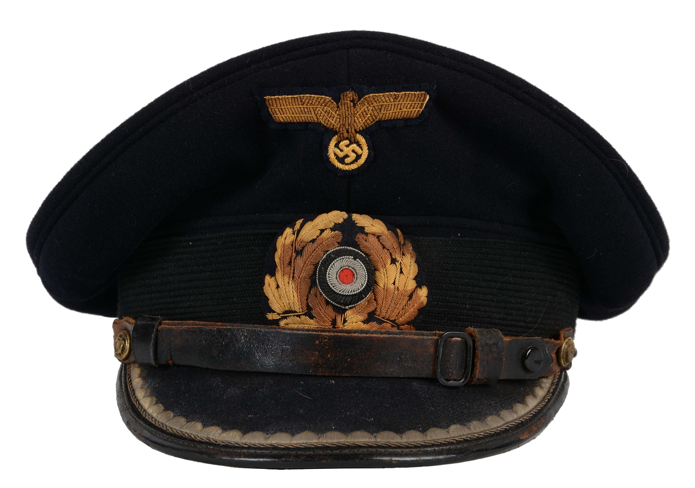 German WWII Kriegsmarine Officers Visor Cap.
