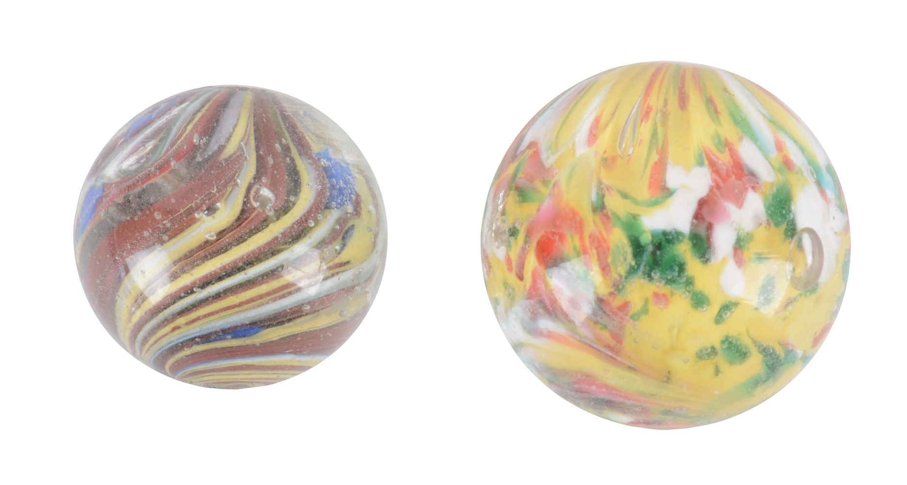 Lot Of 2: Exceptional Handmade Marbles.