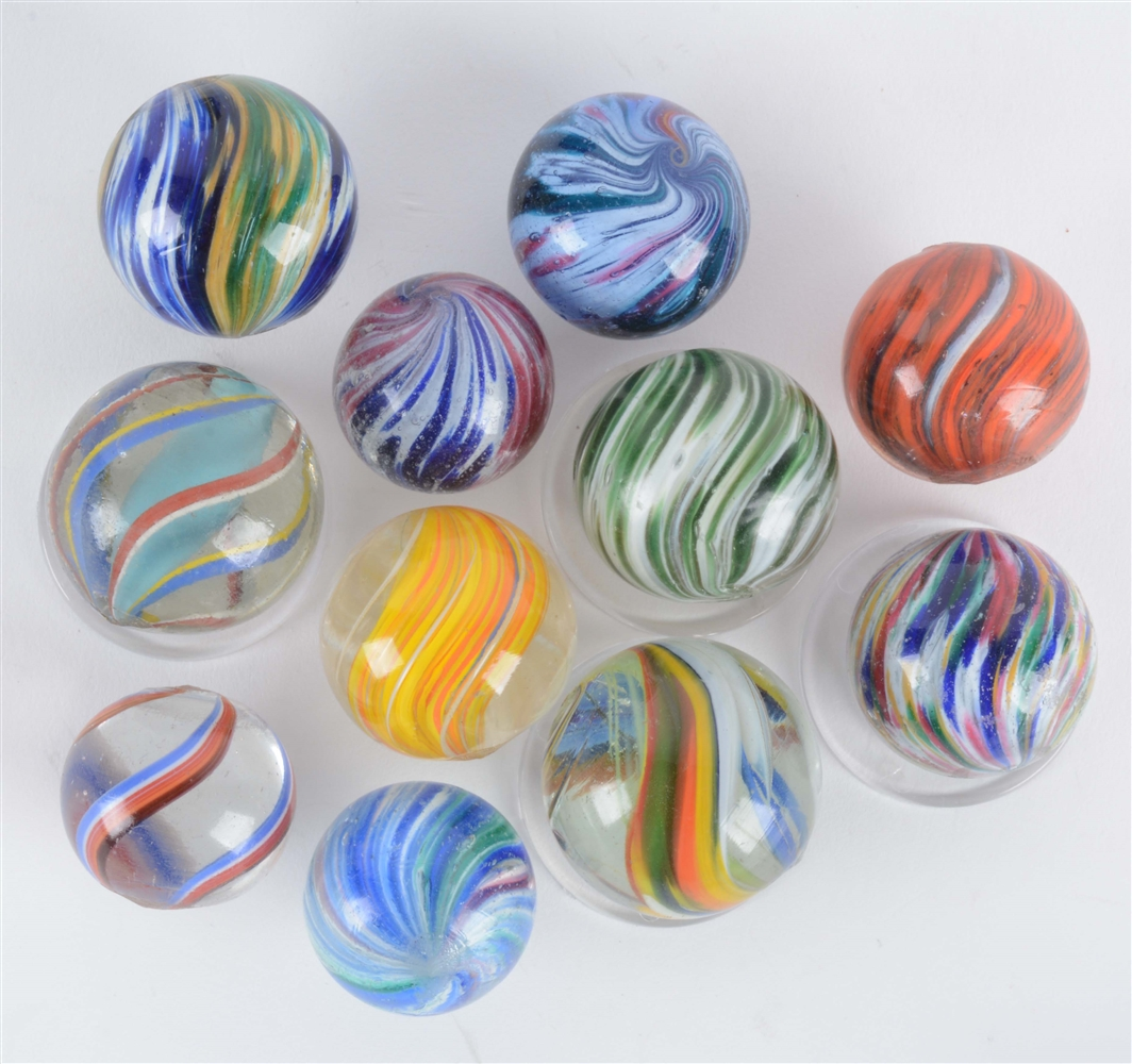 Lot Of 11: Handmade Marbles.