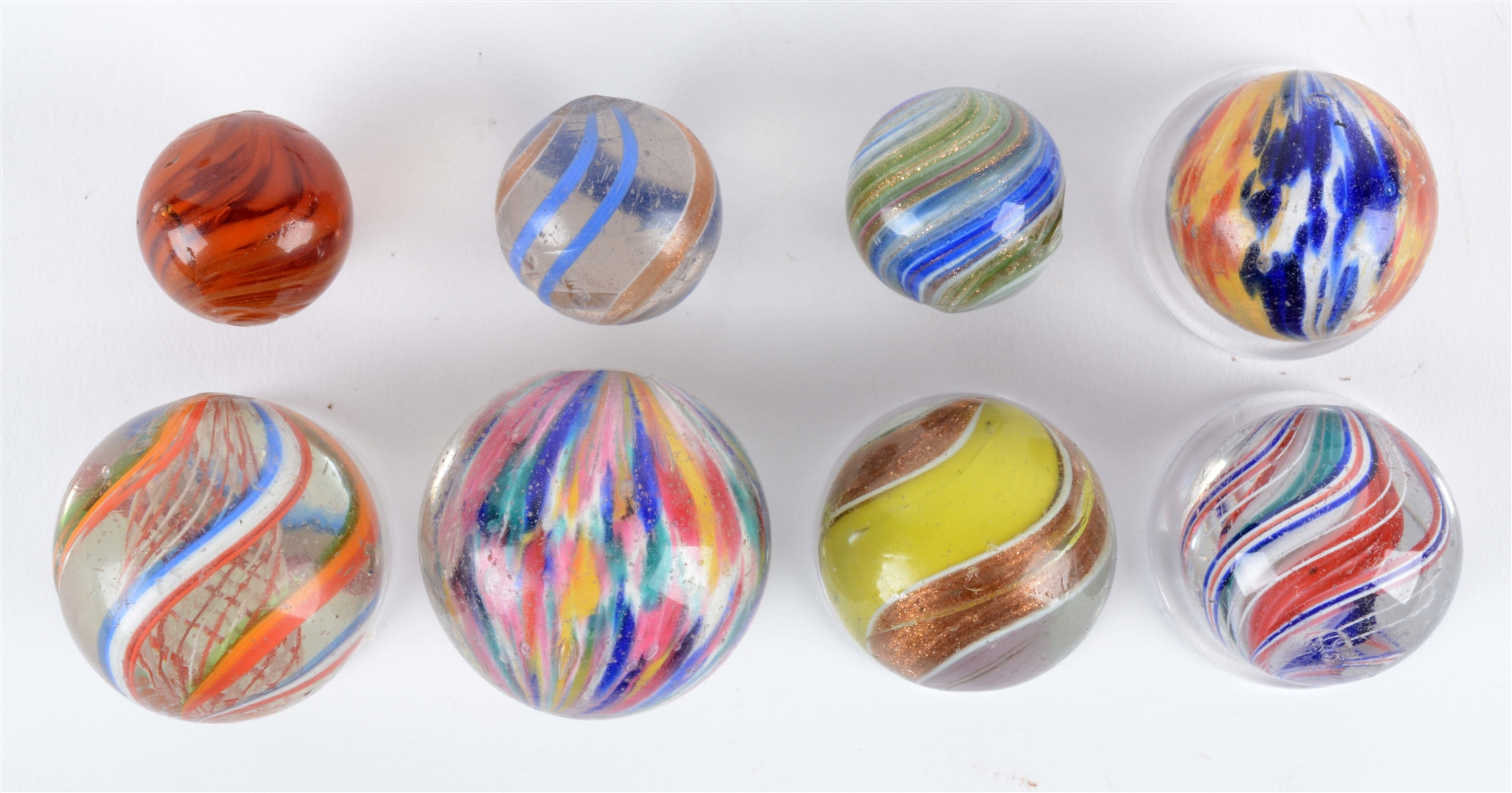 Lot Of 8: Handmade Marbles.