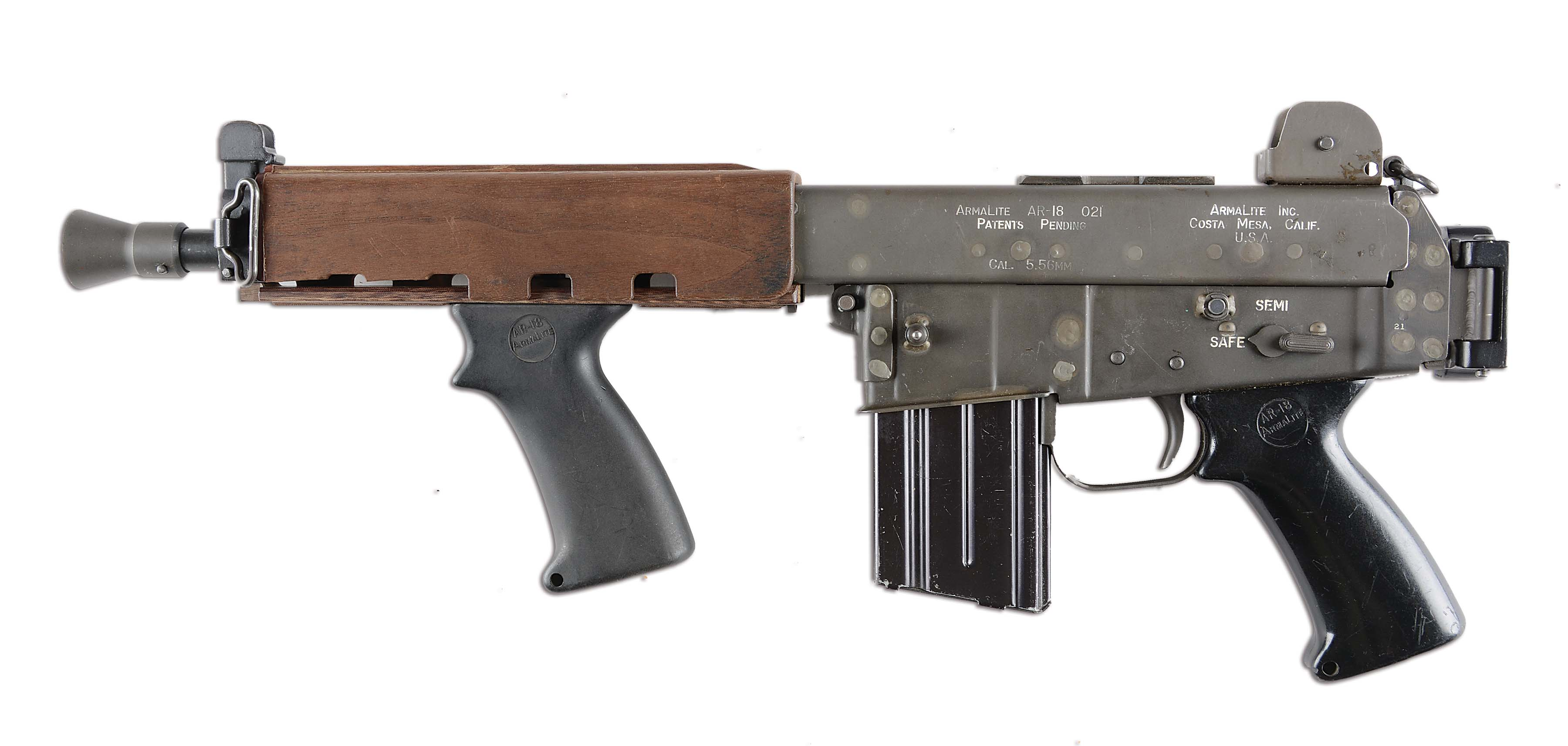Lot Detail - (N) EXTREMELY EARLY ARMALITE AR-18 MACHINE