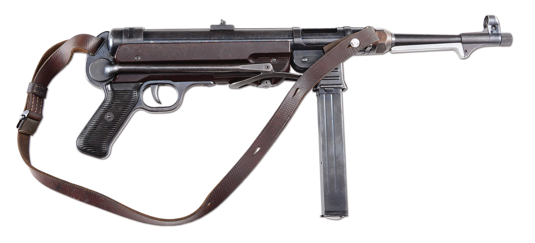 (N) FINE GERMAN WWII MP40 MACHINE GUN (CURIO & RELIC).