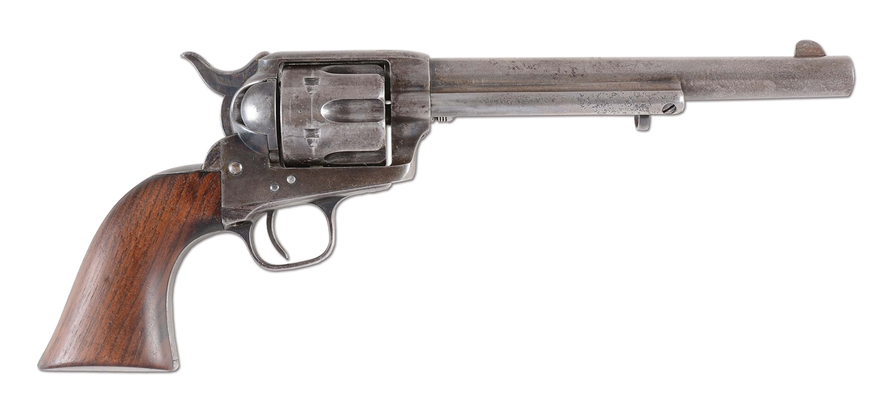 (A) US COLT CAVALRY SINGLE ACTION ARMY REVOLVER WITH KOPEC LETTER (LYLE/DRAPER INSPECTED).