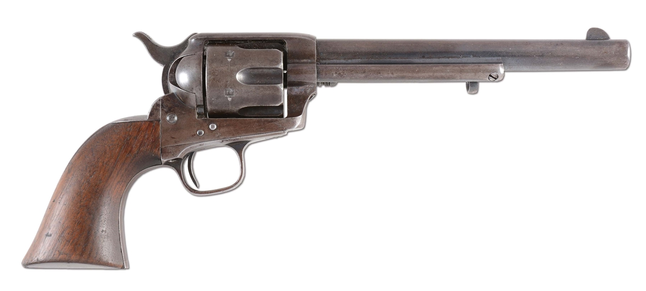 (A) US COLT CAVALRY SINGLE ACTION ARMY REVOLVER WITH KOPEC LETTER (LOUIS INSPECTED).