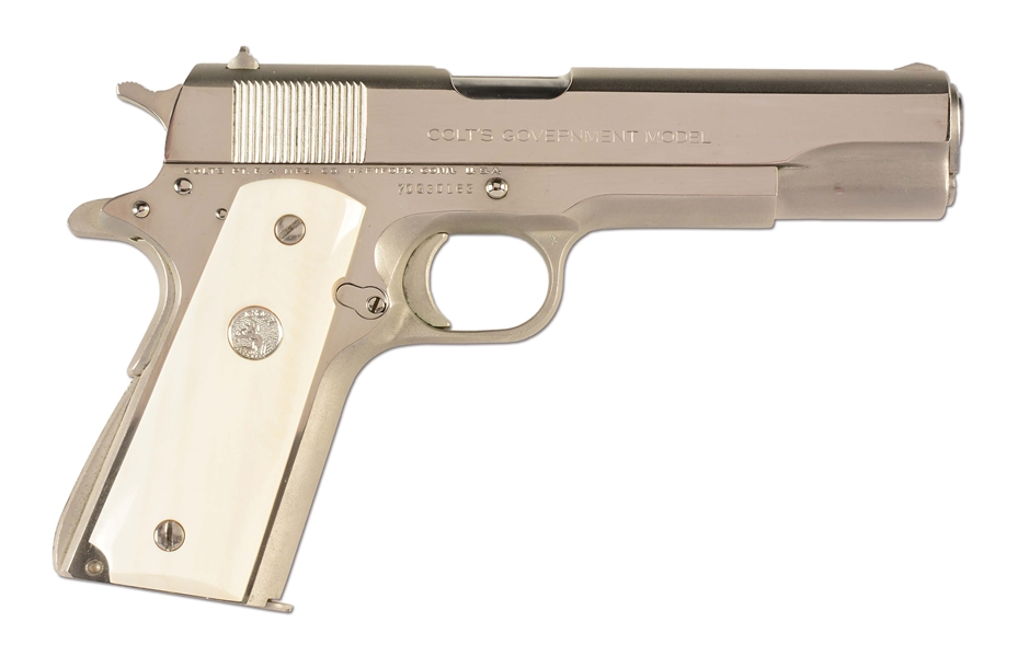 Lot Detail - (M) Nickel Plated Colt Model 1911A1 Series 70