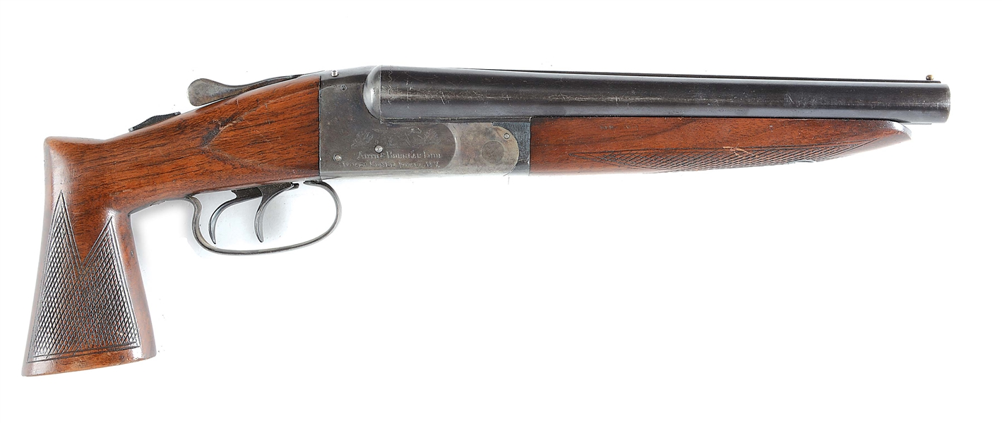 "(N) ITHACA NID AUTO & BURGLAR 20 GAUGE SIDE BY SIDE SHOTGUN (REGISTERED AS ""ANY OTHER WEAPON"")"