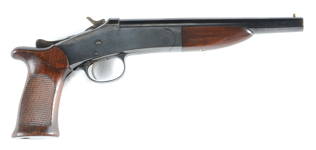 "(N) HARRINGTON & RICHARDSON HANDY GUN WITH 8"" BARREL (REGISTERED AS ""ANY OTHER WEAPON"")"