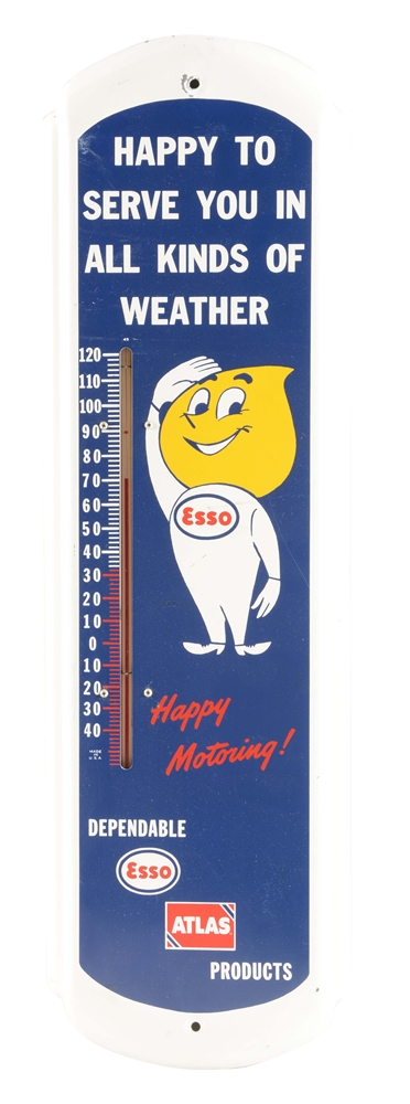 Esso Products Tin Advertising Thermometer.
