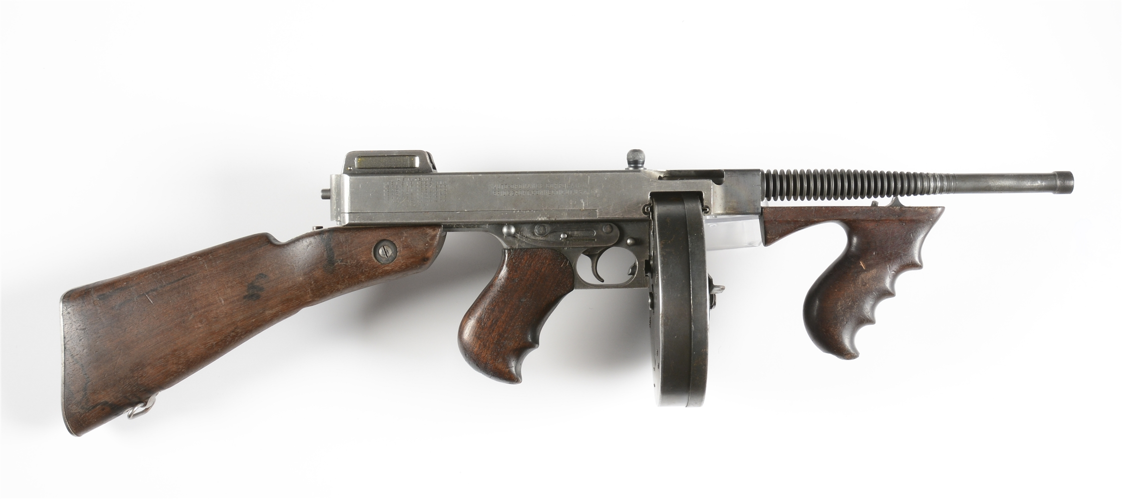 (N) SAVAGE MANUFACTURED AUTO ORDNANCE THOMPSON MODEL 1928A1 MACHINE GUN (CURIO & RELIC).