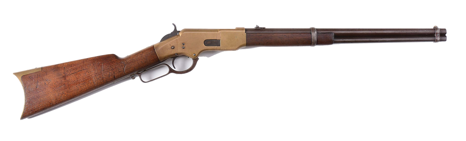 (A) 1ST YEAR PRODUCTION FLATSIDE WINCHESTER MODEL 1866 SADDLE RING CARBINE.