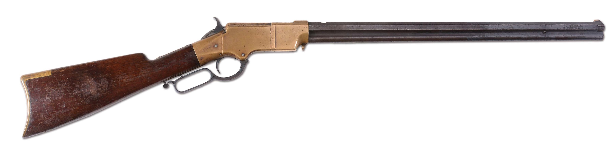 (A) WINCHESTER MARTIALLY MARKED MODEL 1860 HENRY LEVER ACTION RIFLE (1863).