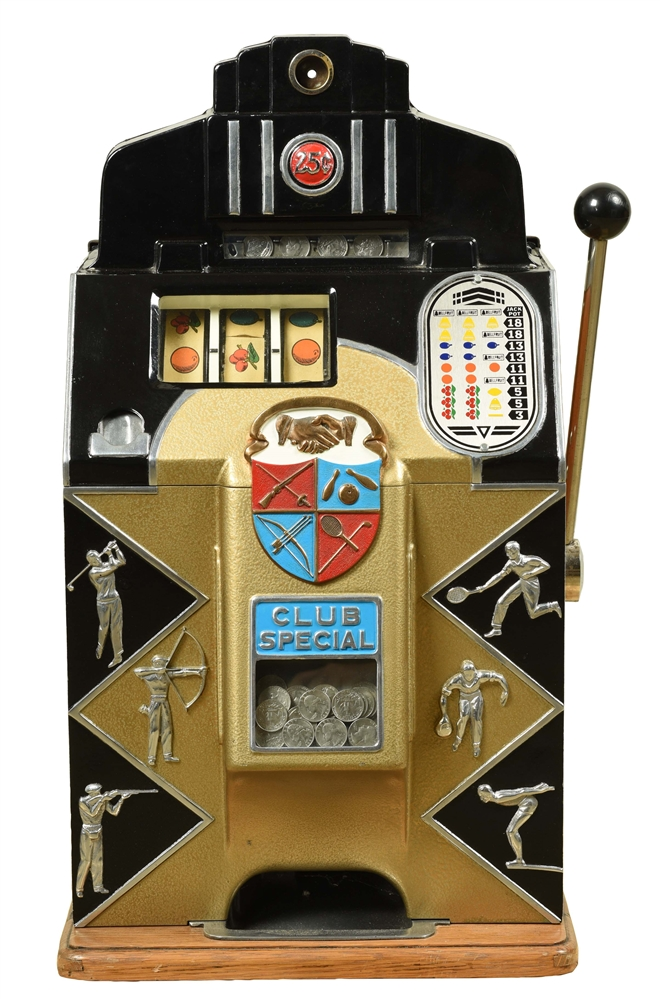 **25¢ O.D. JENNINGS CLUB SPECIAL SLOT MACHINE.
