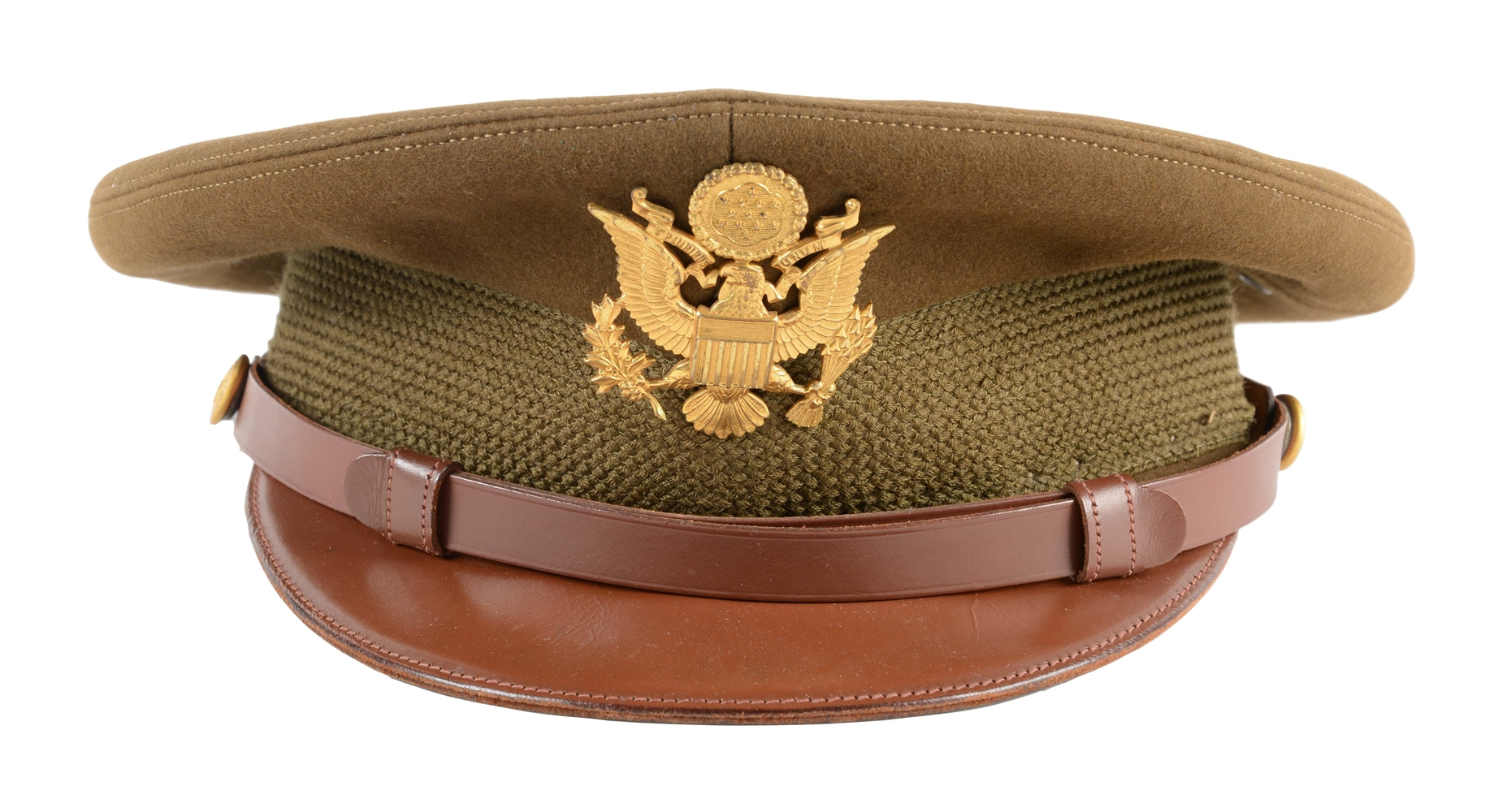 General Bradleys Visor Cap & Insignia with Signed Transmittal Note.