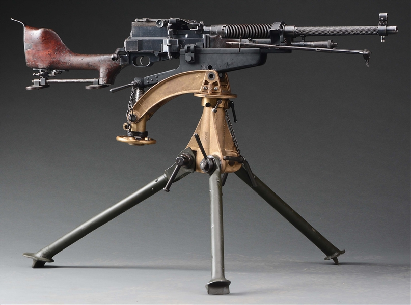 (N) Very Rare WW1 U.S Colt Automatic Machine Gun Model of 1909 (Benet Mercie) With Accessories and Tripod (CURIO & RELIC)