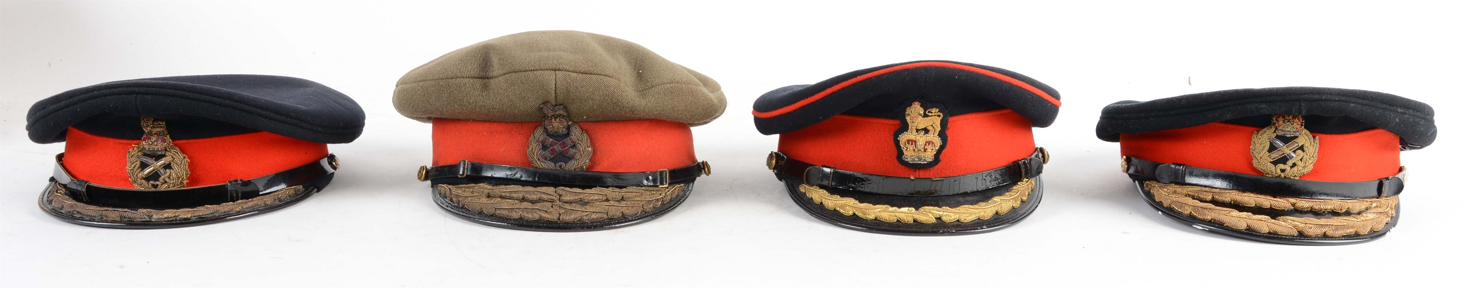 Lot Of 4: British Generals Visor Caps.