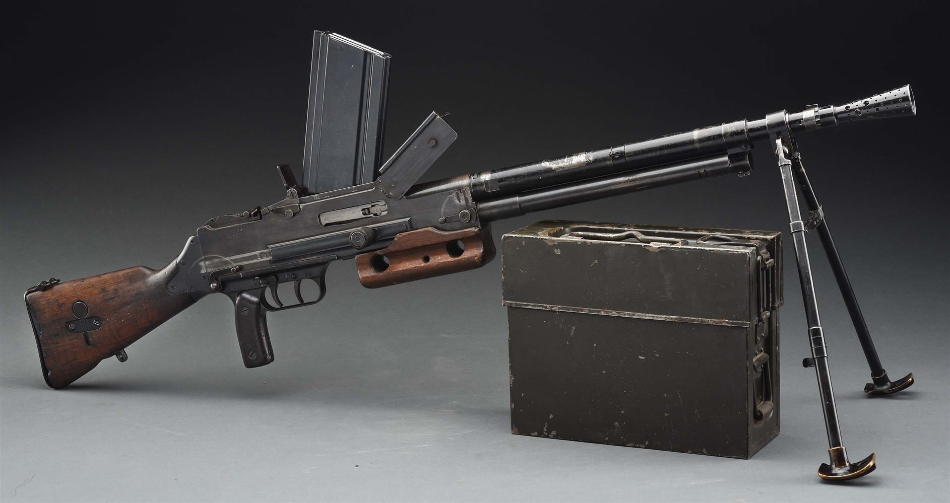 (N) VERY SCARCE CHATELLERAULT MODEL 24/29 MACHINE GUN (CURIO AND RELIC)