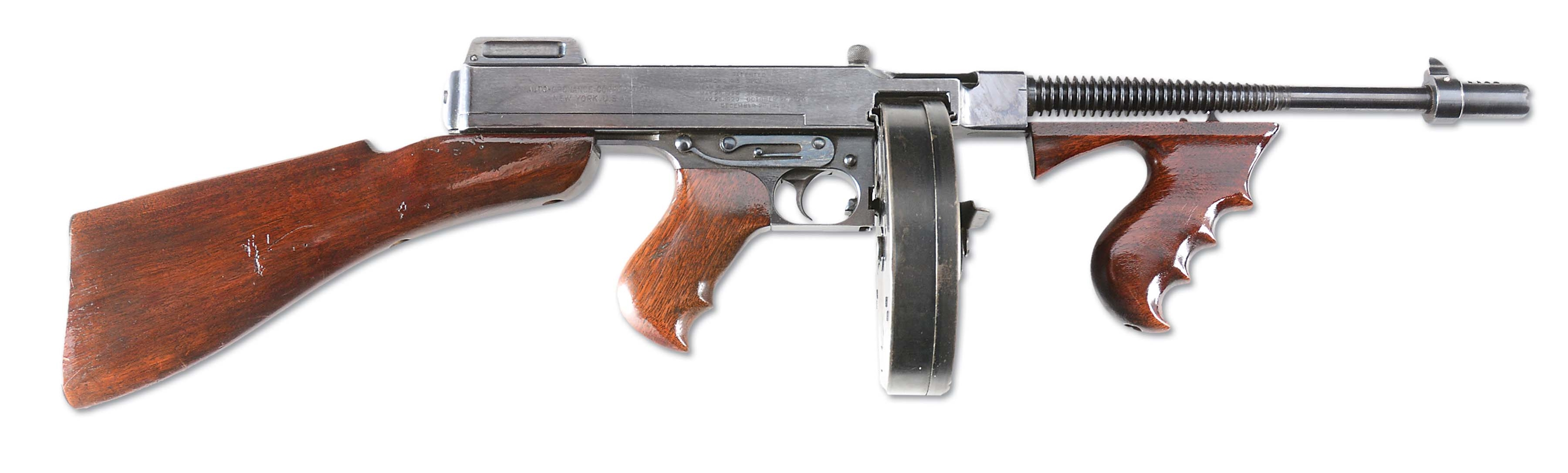 (N) EXCEPTIONAL ORIGINAL FINISH COLT MODEL 1921 AC THOMPSON MACHINE GUN (CURIO & RELIC)