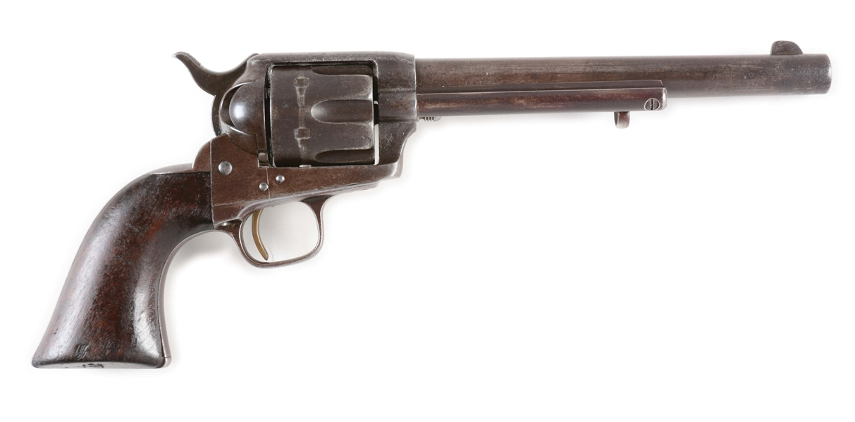 (A) COLT SINGLE ACTION ARMY CONDEMNED CALVARY REVOLVER (1878).