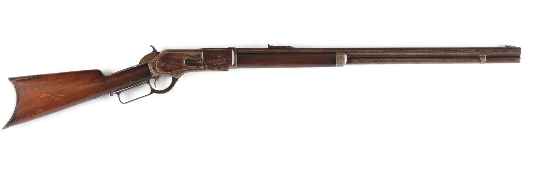 (A) EARLY WINCHESTER MODEL 1876 OPEN TOP LEVER ACTION RIFLE (1876).
