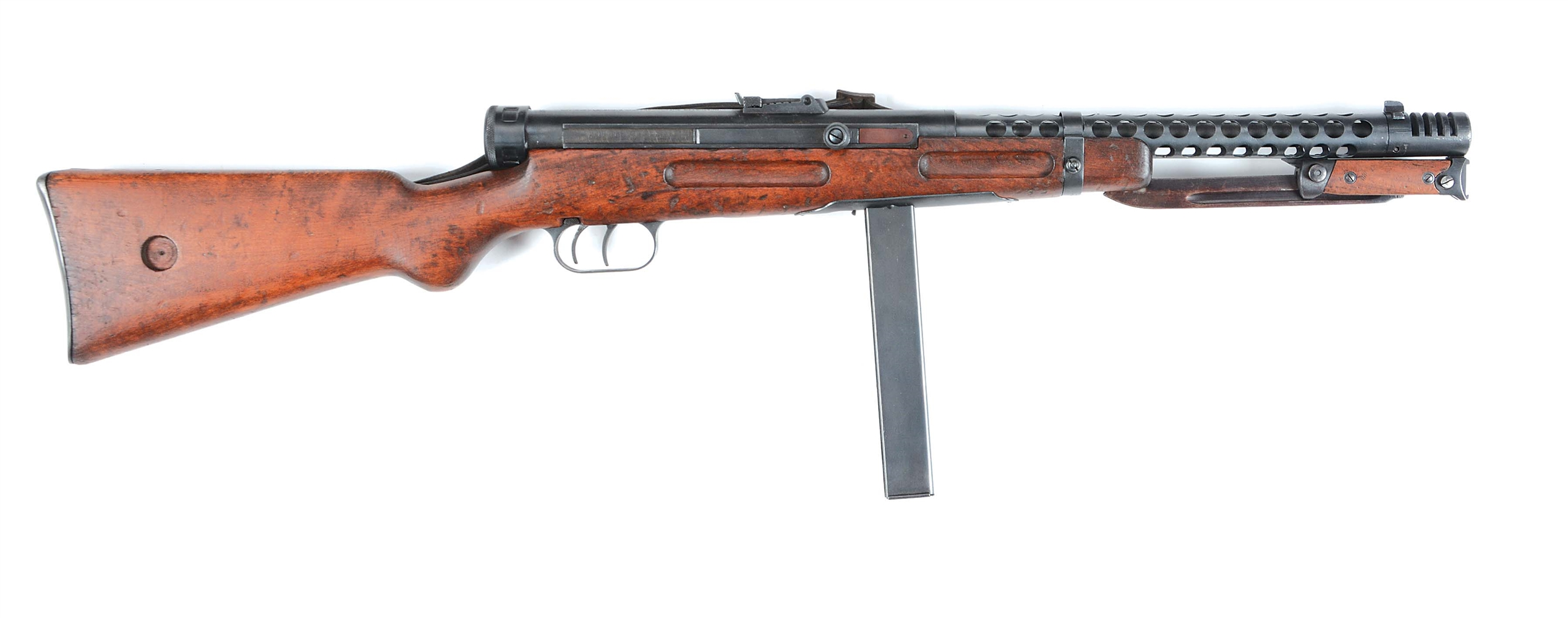 (N) VERY FINE AND SOUGHT AFTER ITALIAN WW2 BERETTA MODEL 38A MACHINE GUN (CURIO AND RELIC)
