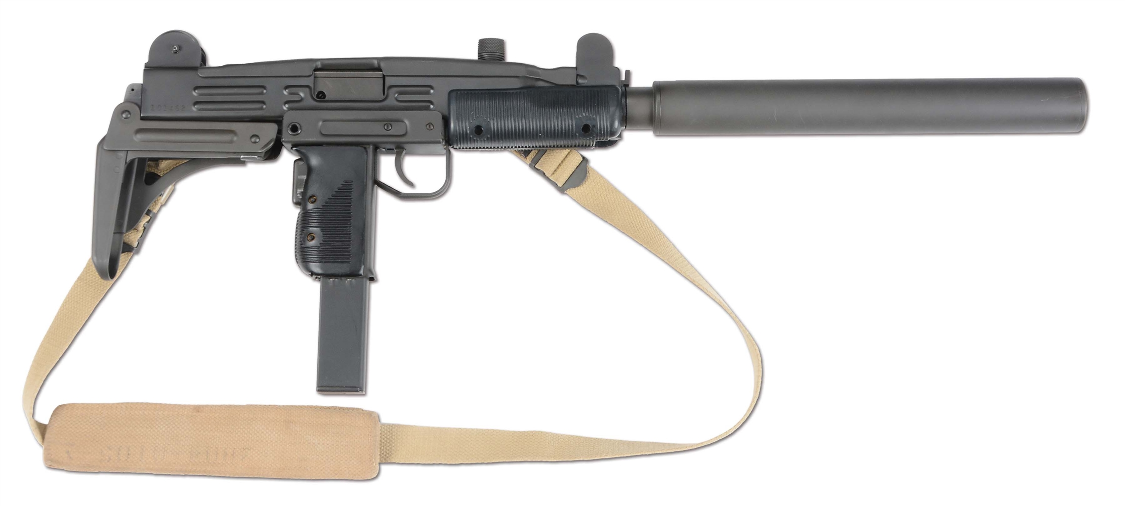 (N) GROUP INDUSTRIES HR 4332 UZI MACHINE GUN WITH CSS MODEL 200 SUPPRESSOR (FULLY TRANSFERABLE)