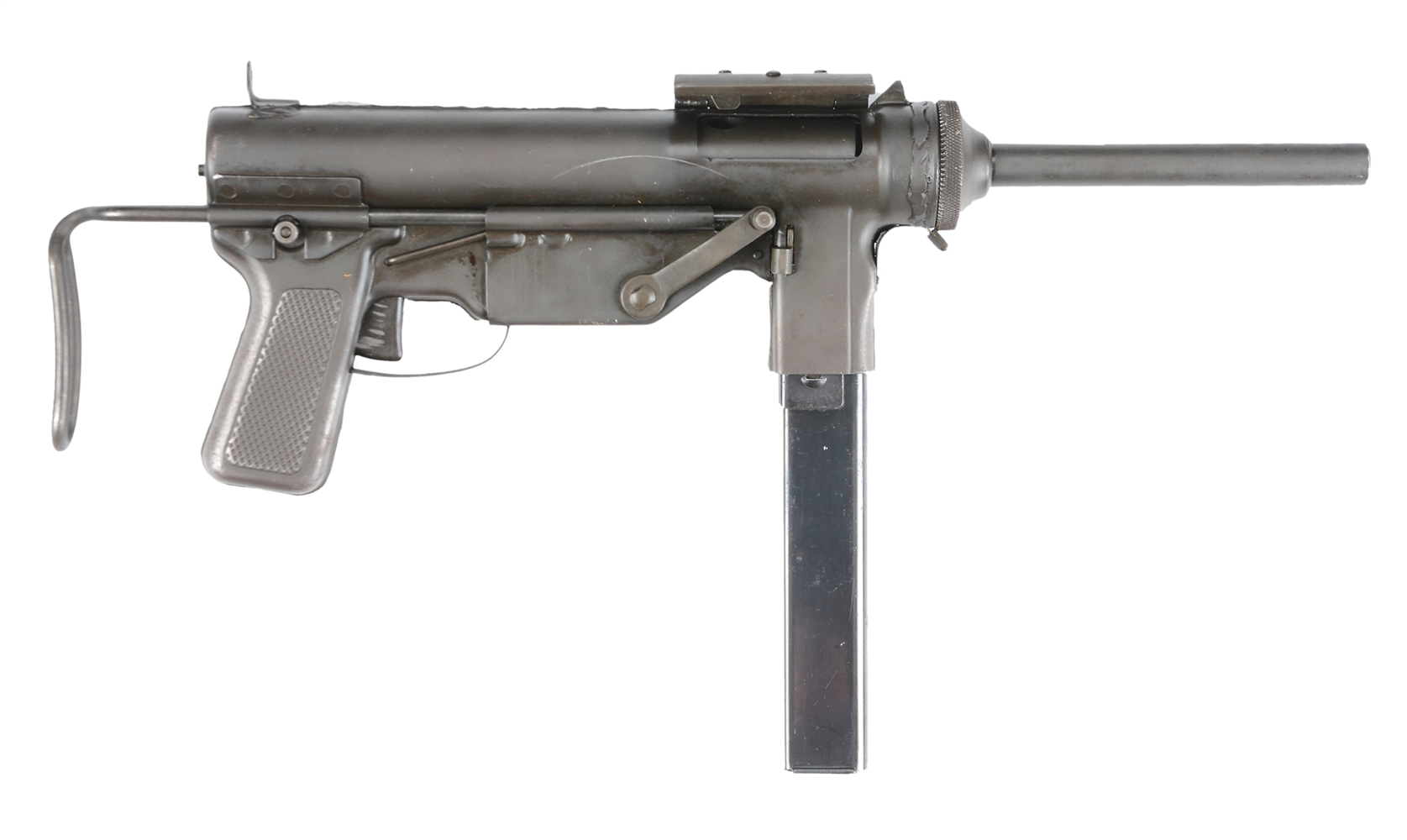 "(N) HIGH ORIGINAL CONDITION SCARCE EARLY EXPERIMENTAL M3 ""GREASE GUN""  MACHINE GUN (CURIO AND RELIC)"
