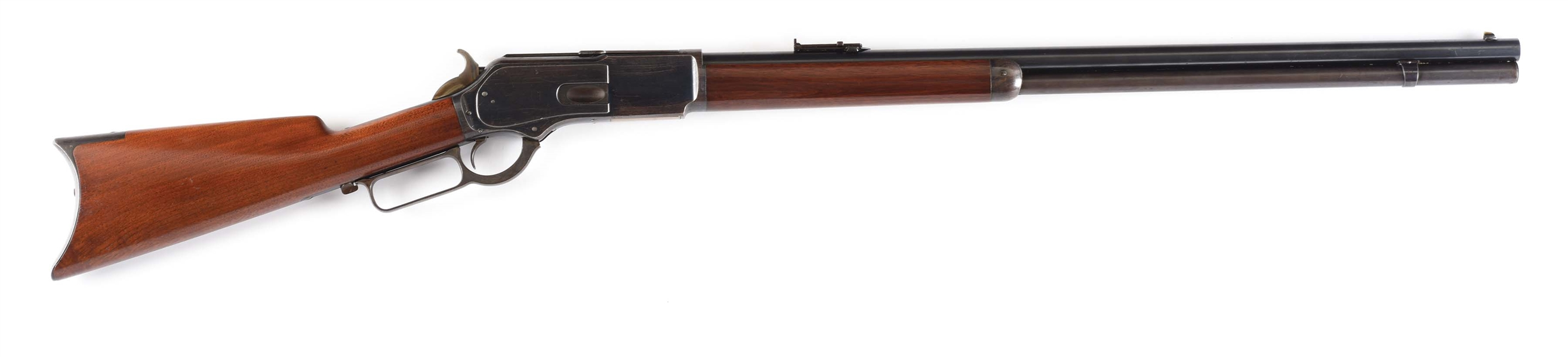 (A) SUPERB WINCHESTER 1876 LEVER ACTION RIFLE