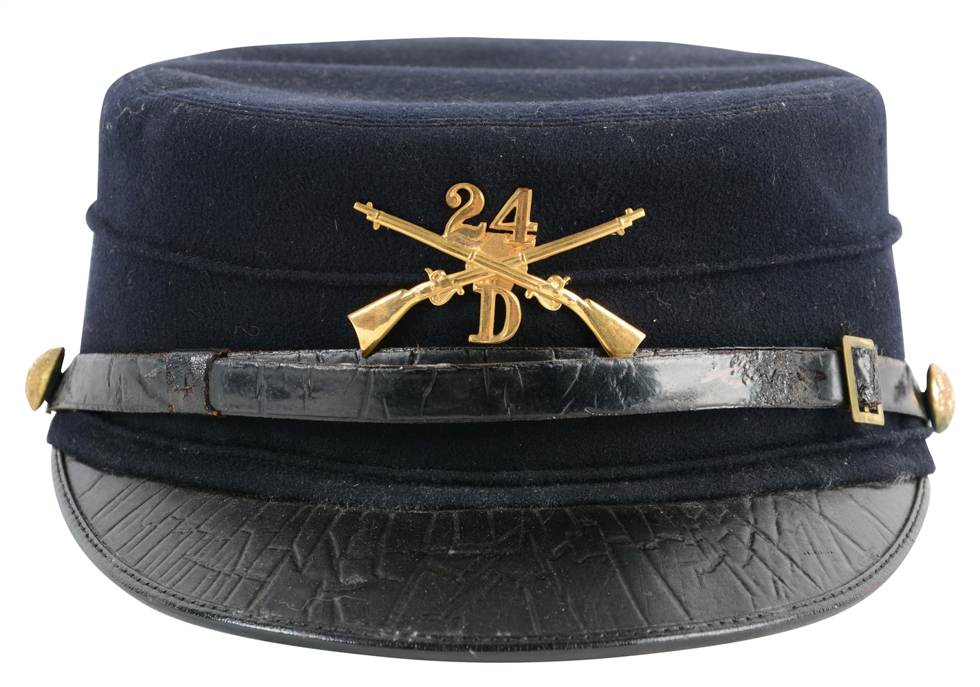 M1895 U.S. Army 24th Infantry Enlisted Forage Cap.