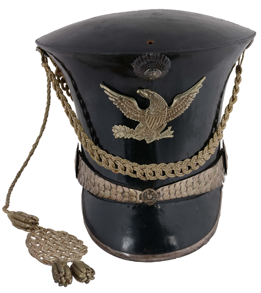 Exceptional Condition American Militia Officers Bell Crown Shako, Circa 1830.