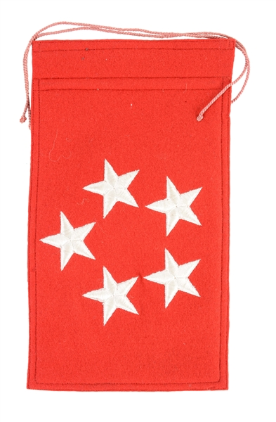 General Dwight D. Eisenhowers Staff Car Flag With Letter.