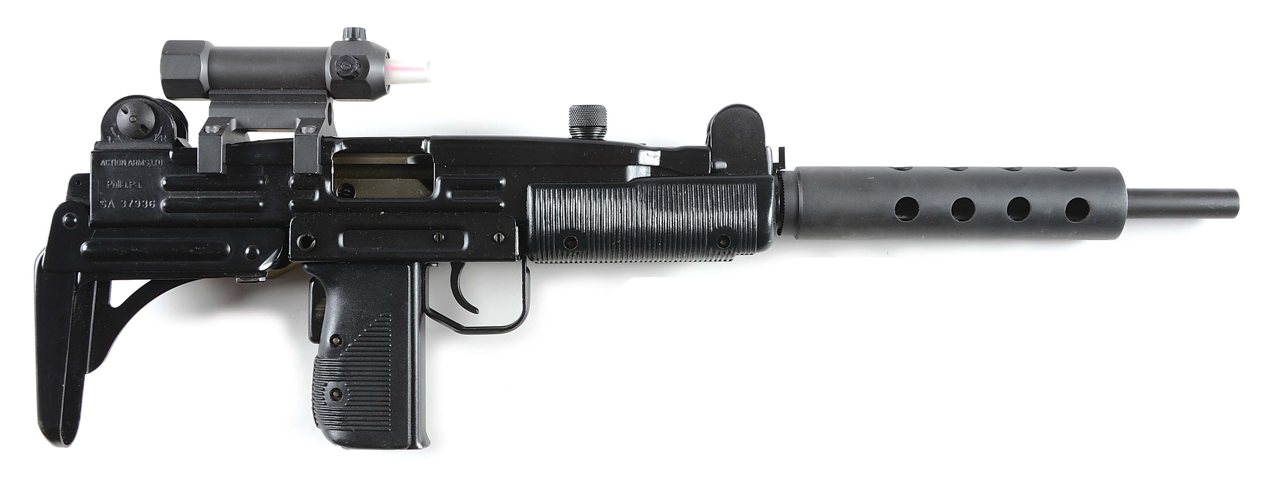 (M) IMI Uzi Model B Semi-Auto Rifle with Carrying Case and Accessories.