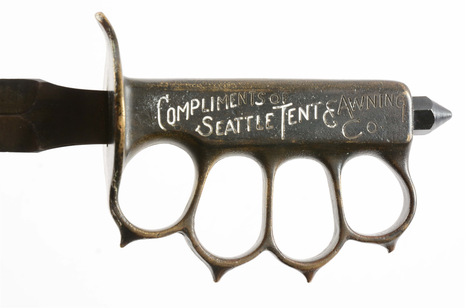 Lot Detail - U.S. MODEL 1918 L.F. & C KNUCKLE KNIFE WITH ...