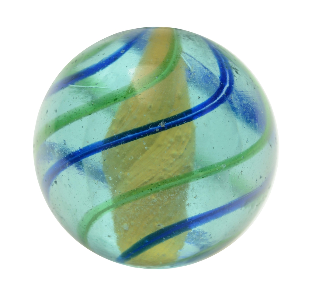 Blue Glass Solid Core Marble.
