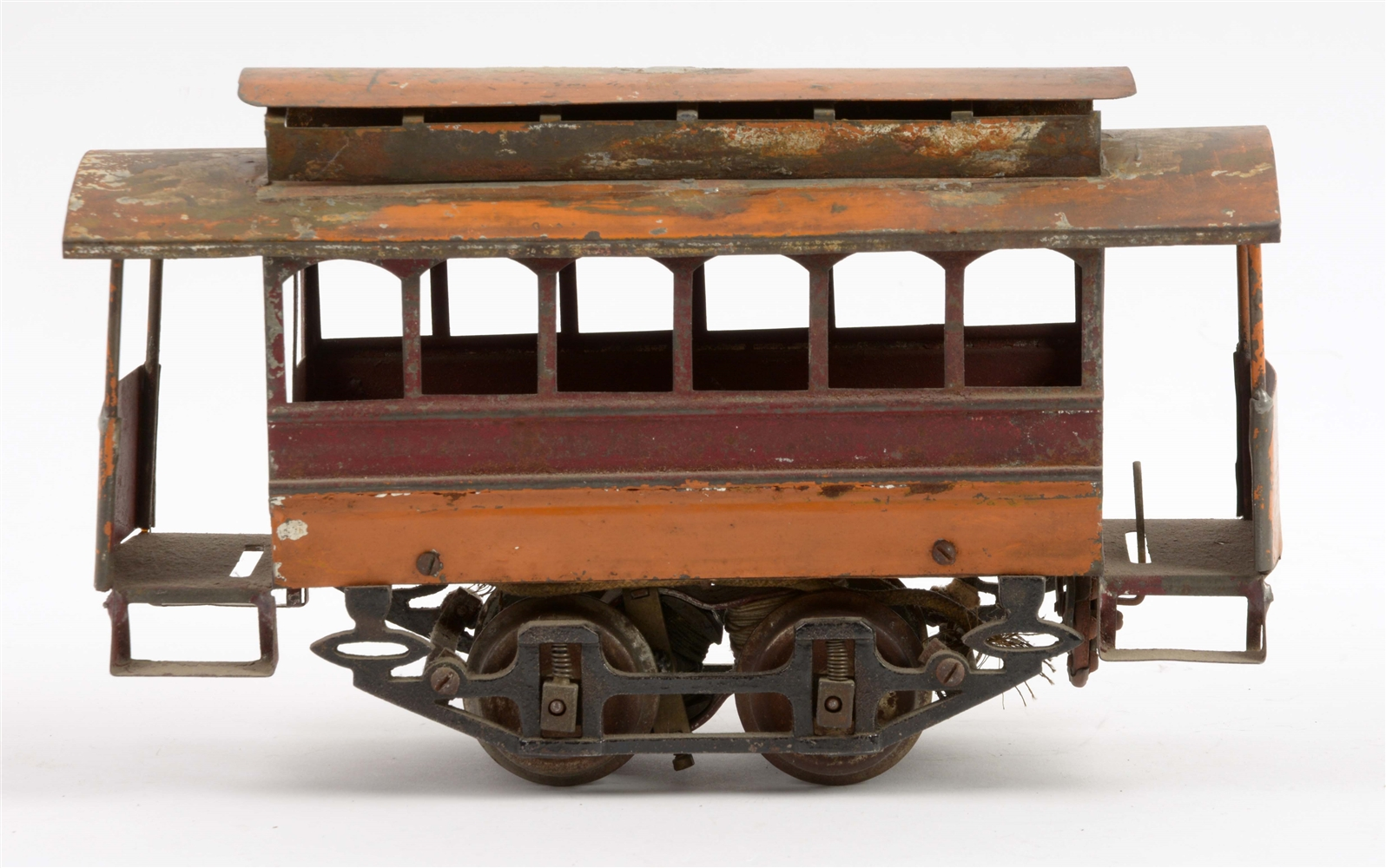 Early Knapp Electric Traction Trolley.